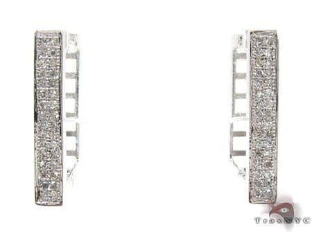 Ladies Micro Pave Diamond Earrings 21628 Stone