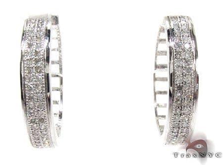 Ladies Micro Pave Diamond Earrings 21630 Stone