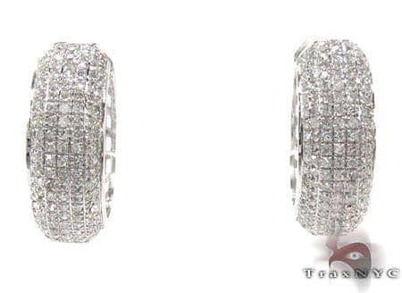 Ladies Prong Diamond Earrings 21634 Stone