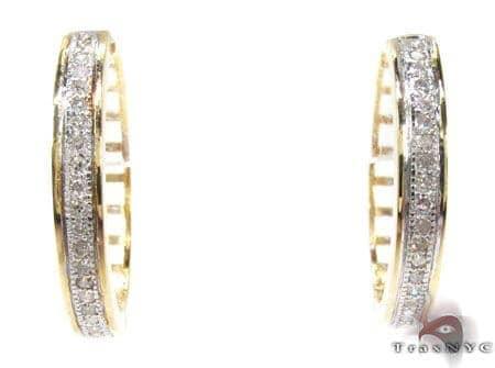 Ladies Micro Pave Diamond Earrings 21643 Stone