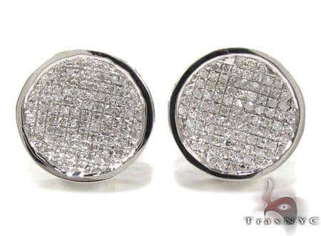 Mens Diamond Earrings 21669 Stone