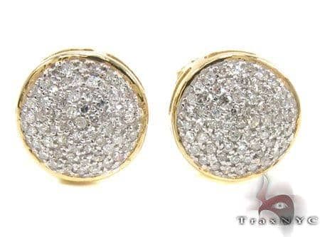 Mens Diamond Earrings 21672 Stone