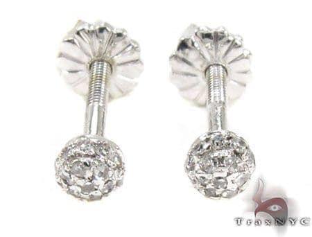 Ladies Prong Diamond Earrings 21684 Stone