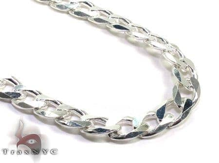 Mens Silver Chain 20 Inches 9mm 53.6 Grams Silver