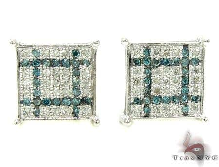 2 Color Diamond Earrings 21731 Stone