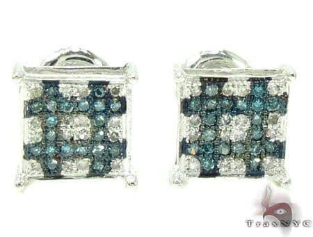 2 Color Diamond Earrings 21732 Stone