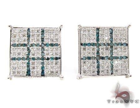 2 Color Diamond Earrings 21780 Stone