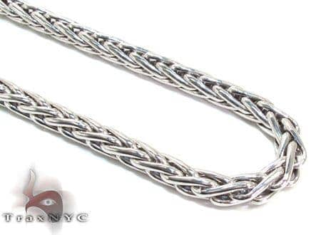 Mens Silver Chain 40 Inches 4mm 40.5 Grams Silver