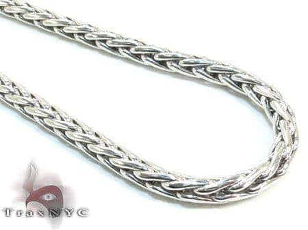 Mens Silver Chain 24 Inches 3mm 17.6 Grams Silver