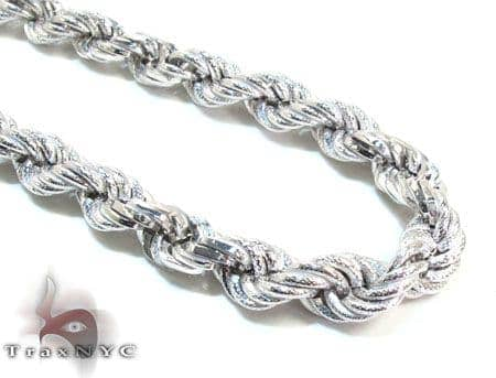 Ladies Silver Chain 18 Inches 7mm 33.2 Grams Silver
