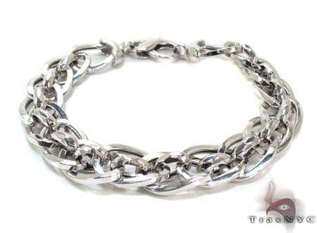 Ladies Silver Bracelet 21852 Silver & Stainless Steel