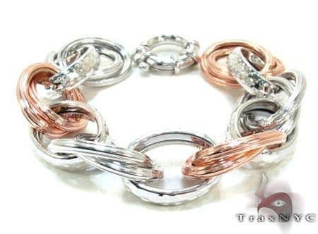 Ladies Silver Bracelet 21870 Silver & Stainless Steel