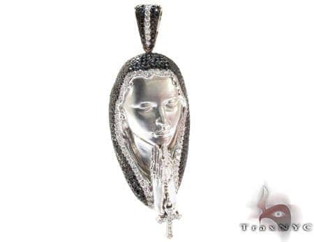Virgin Mary Diamond Pendant 21975 Metal