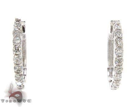 Ladies Diamond Hoop Earrings 22005 Style