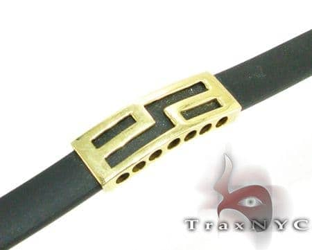 Yellow Gold & Rubber Bracelet XL 2 Gold