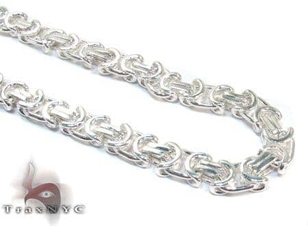 Byzantine Silver n 24 Inches 10mm 149.20 Grams Silver