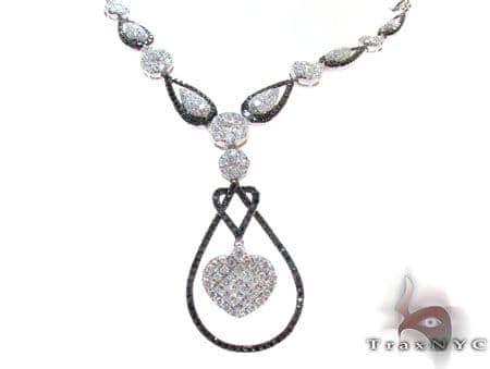 Ladies Black Diamond Necklace 22274 Diamond