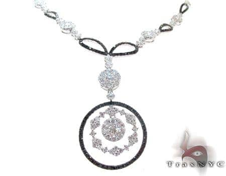 Ladies Black Diamond Necklace 22277 Diamond