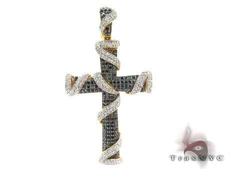 Mens Prong Diamond Cross 22348 Diamond