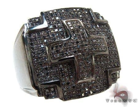 Black Diamond Cross Ring Stone