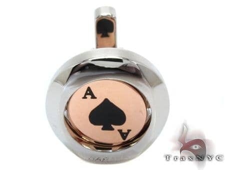 Baraka Rose Gold & Stainless Steel Ace of Spades Cufflink Metal