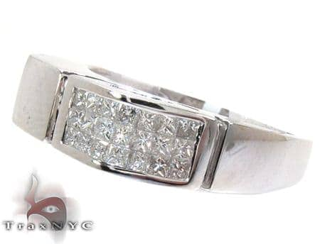 Smile Enchante  Mens White Gold Diamond Wedding Rings Style