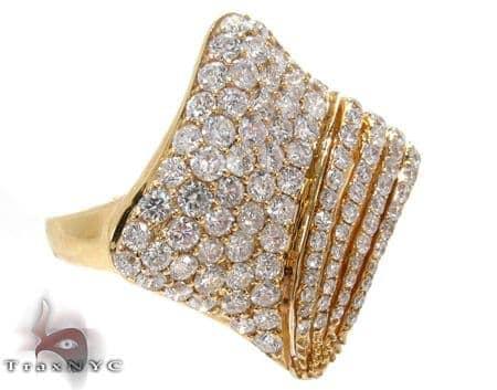 Yellow Gold Round Cut Prong Diamond Ring Anniversary/Fashion