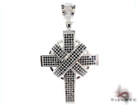 White Rhodium Silver Cross Silver