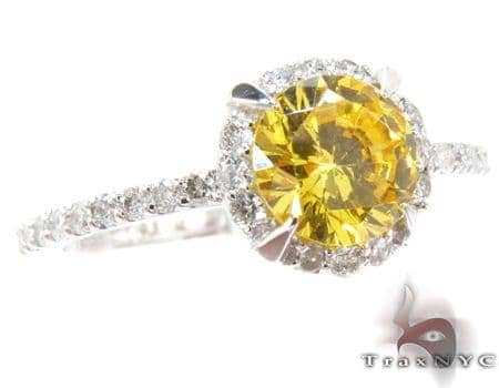 Vivid citrine & Diamond Ring Anniversary/Fashion