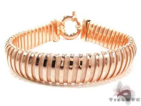 Rose Silver Bracelet Silver & Stainless Steel