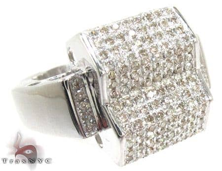 Silver Round Cut Prong Diamond Ring 25348 Metal