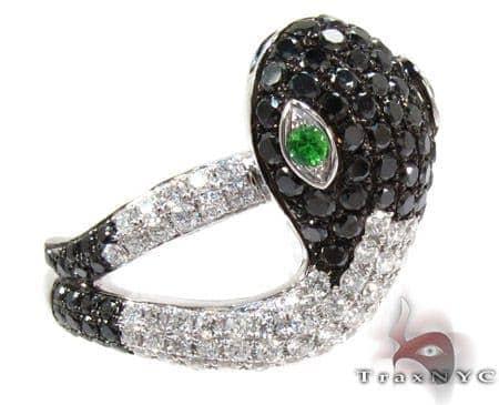 18K Gold & Diamond Snake Head Ring 25545 Anniversary/Fashion