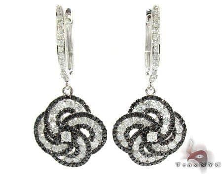 Orchid Diamond Flower Chandelier Earrings 25574 Style
