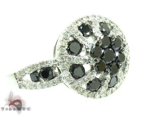 Black Diamond Daisy Ring Anniversary/Fashion