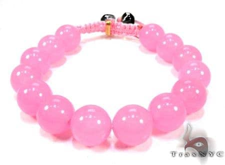 Blush Bead Ball Bracelet Silver