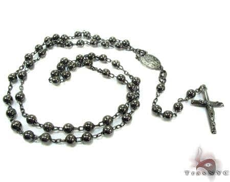 Rosary Silver Chain 24 Inches, 4mm, 25.1 Grams Silver