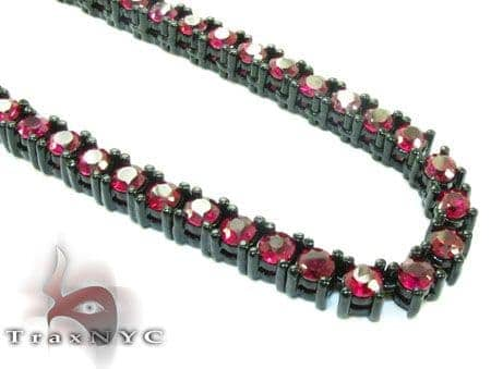 Ruby Chain 32 Inches 5mm 105 Grams Diamond