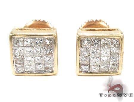 Invisible Diamond Stud Earrings Stone