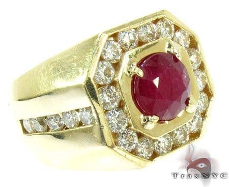 Mens Godfather Ruby Ring Stone