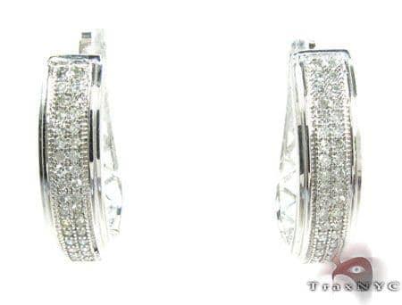Micro-Pave 2 Row Diamond Earrings 26085 Style