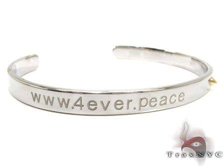 Baraka www.4ever.peace Ladies Bangle BR50137 Silver & Stainless Steel