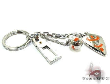 Baraka BK-UP Stainless Steel Key Chain PO50120 Metal