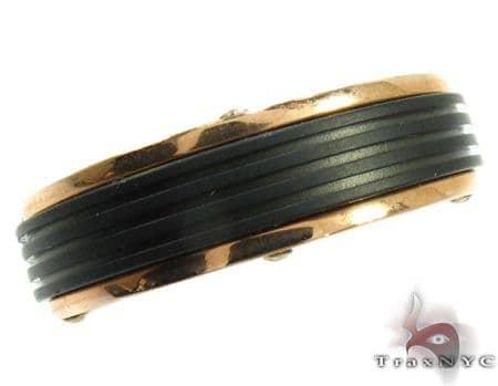 Baraka Two-Tone 18K Gold & Ceramic Ring Metal