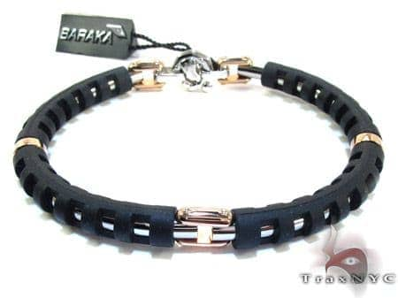 Baraka Gold and Stainless Steel Diamond Bracelet BR21253 Diamond