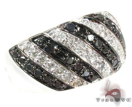 Black and White Stripe Diamond Ring Anniversary/Fashion