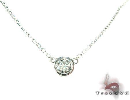 Pure Bezel Gold Diamond Necklace Diamond
