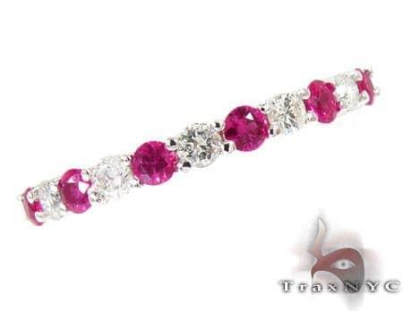 Pink Ruby & Diamond Ring Anniversary/Fashion