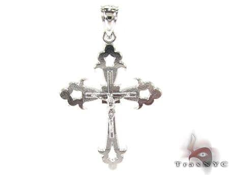Resurrection of Jesus Silver Tiny Cross Silver