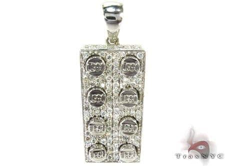 Full Diamond Lego Pendant Metal
