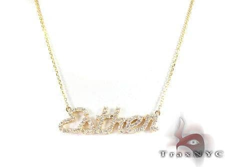 Custom Jewelry Diamond Name Necklace Diamond